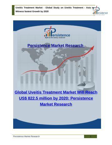 Uveitis Treatment Market - Global Study on Uveitis Treatment to 2020