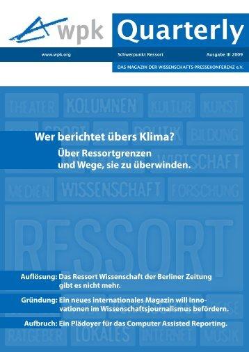 PDF zum Download: WPK-Quarterly III 2009