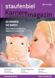 Ausgabe 1/2011 - Staufenbiel Karrieremagazin