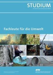 Fachleute für die Umwelt - ETH - ETH Zürich