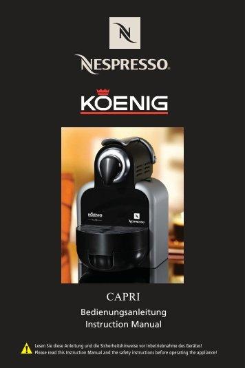 nespresso essenza descaling instructions