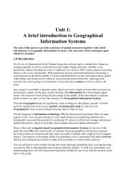 A brief introduction to Geographical Information Systems - AGOCG