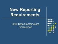 New Reporting Requirements - Texas Juvenile Justice Department
