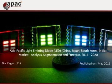 APAC Light Emitting Diodes Market - Analysis, Segmentation and Forecast, 2014 – 2020