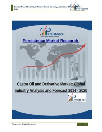 Castor Oil and Derivative Market: Global Industry Analysis and Forecast 2014 - 2020