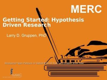 Designing Research Studies