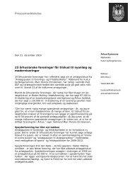 Pressemeddelelse 23 århusianske foreninger får tilskud til nyanlæg ...