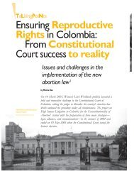 Ensuring Reproductive Rights in Colombia - Isis International Manila