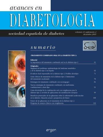 Avances en Diabetología - Sociedad Española de Diabetes
