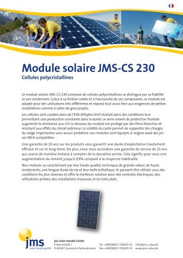 Module solaire JMS-CS 230 - jms Solar Handel GmbH