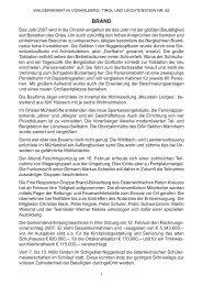 Chronik der Gemeinde Brand für das Jahr 2007 - Vorarlberger ...