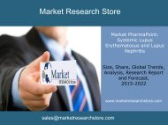 Market PharmaPoint: Systemic Lupus Erythematosus and Lupus Nephritis  ,  Global Drug Forecast and Market Analysis to 2022 - Event-Driven Update