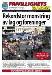 Frivillighetsdagens avis 2008 (pdf) - Arendal kommune