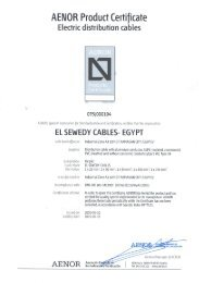 AENOR Product Certificate - Elsewedy Cables