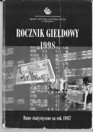 Rocznik Giełdowy 1998 - GPW