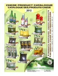 Chede Product Catalogue & Export Price List – 2012