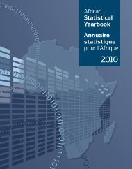 African Statistical Yearbook Annuaire statistique pour l'Afrique