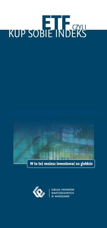 ETF czyli kup sobie indeks WIG20 - GPW