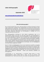 Leben und Werk - Anthroposophische Gesellschaft in Deutschland