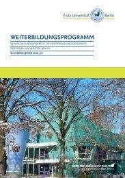 WeiterbildungSPrOgrAMM - Freie Universität Berlin