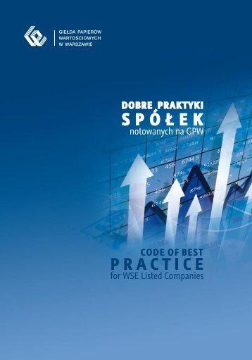 Dobre praktyki spółek notowanych na GPW
