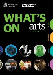 Anglia Ruskin What's On Arts Summer 2015