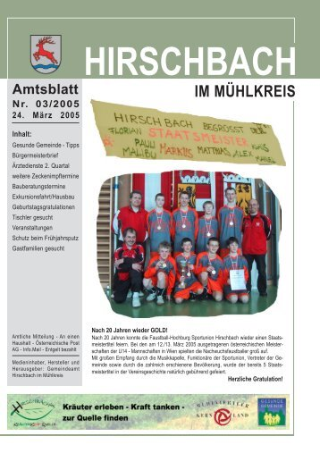 Amtsblatt vom 24.03.2005 - Hirschbach