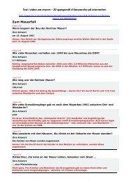 Test i viden om muren – 20 spørgsmål til ... - SLM - Conduct