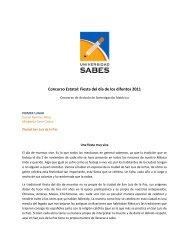 Concurso Estatal: Fiesta del día de los difuntos 2011 - Sabes