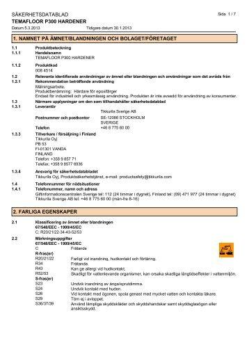 TEMAFLOOR P300 HARDENER - se-swe[1] - Tikkurila