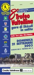 8° Trofeo Valtellina 4ª Prova Gran Premio Italia Ski Roll 2003 - Skiroll.it