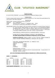 """CLUB """"ATLETICO RARÁMURI"""" - Atletismo en México"""