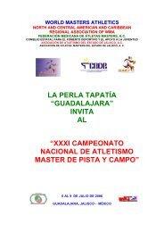 CAMPEONATO NACIONAL DE - Atletismo en México
