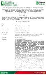 Convocatoria Medio de Zapoapan 2011 - Atletismo en México