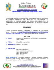 convoca master campeonato mexicano 2012 - Atletismo en México