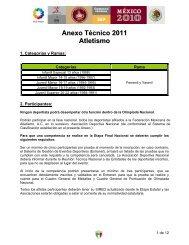 Anexo Técnico - Atletismo en México