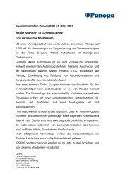 Neuer Standort in Großenlupnitz - Panopa