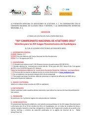 Convocatoria_Nacional_2011 df - Atletismo en México
