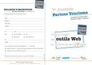 des outils Web - Comité régional du tourisme