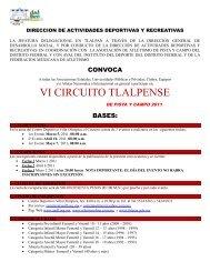 Convocatoria VI Circuito Tlalpense - Atletismo en México