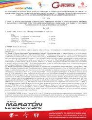 Guadalajara Maraton Convocatoria - Atletismo en México