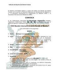 Convocatoria 42k Mexico 2012 - Atletismo en México