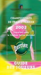 Guide des Joueurs - Fédération Française de Tennis
