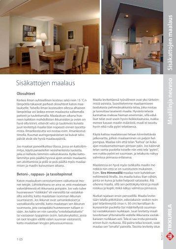 Tikkurila infokortti Sisäkattojen maalaus (pdf)