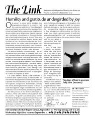 Humility and gratitude undergirded by joy - Westminster ...