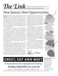 greet, eat and meet - Westminster Presbyterian Church