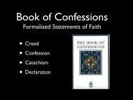 PowerPoint presentation (PDF) - Westminster Presbyterian Church