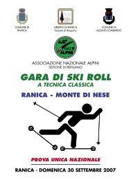 Ranica a Monte di Nese - Skiroll.it