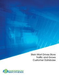 Stein Mart Drives Store Traffic and Grows Customer Database