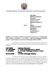 FEDERAZIONE ITALIANA HOCKEY E PATTINAGGIO - Skiroll.it